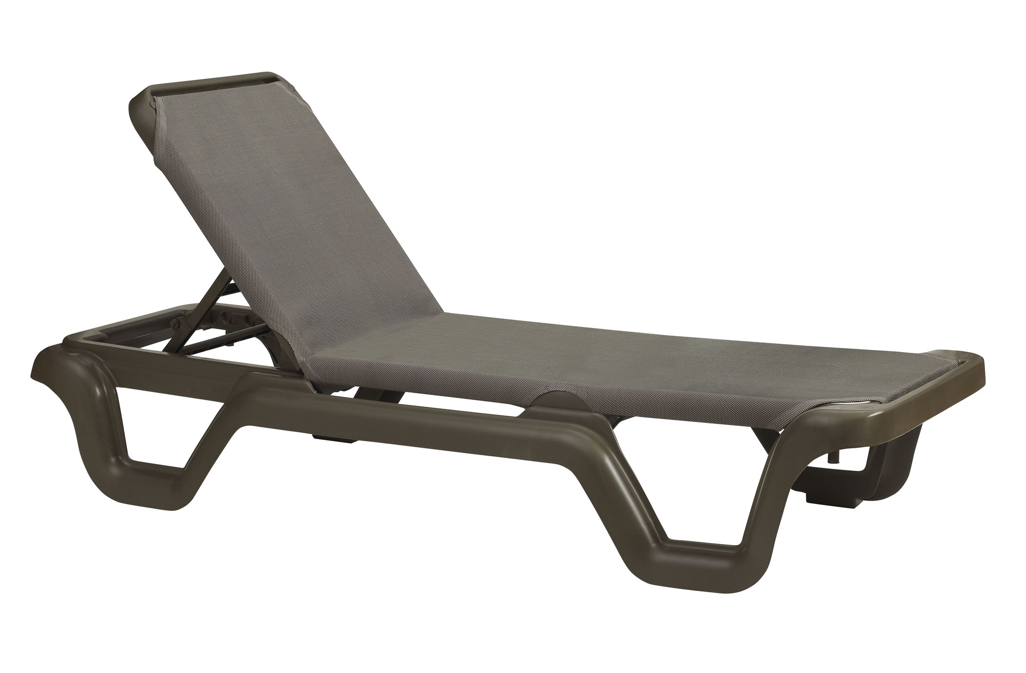 Grosfillex Marina Style Resin Sling Chaise Lounge Chair w o Arms