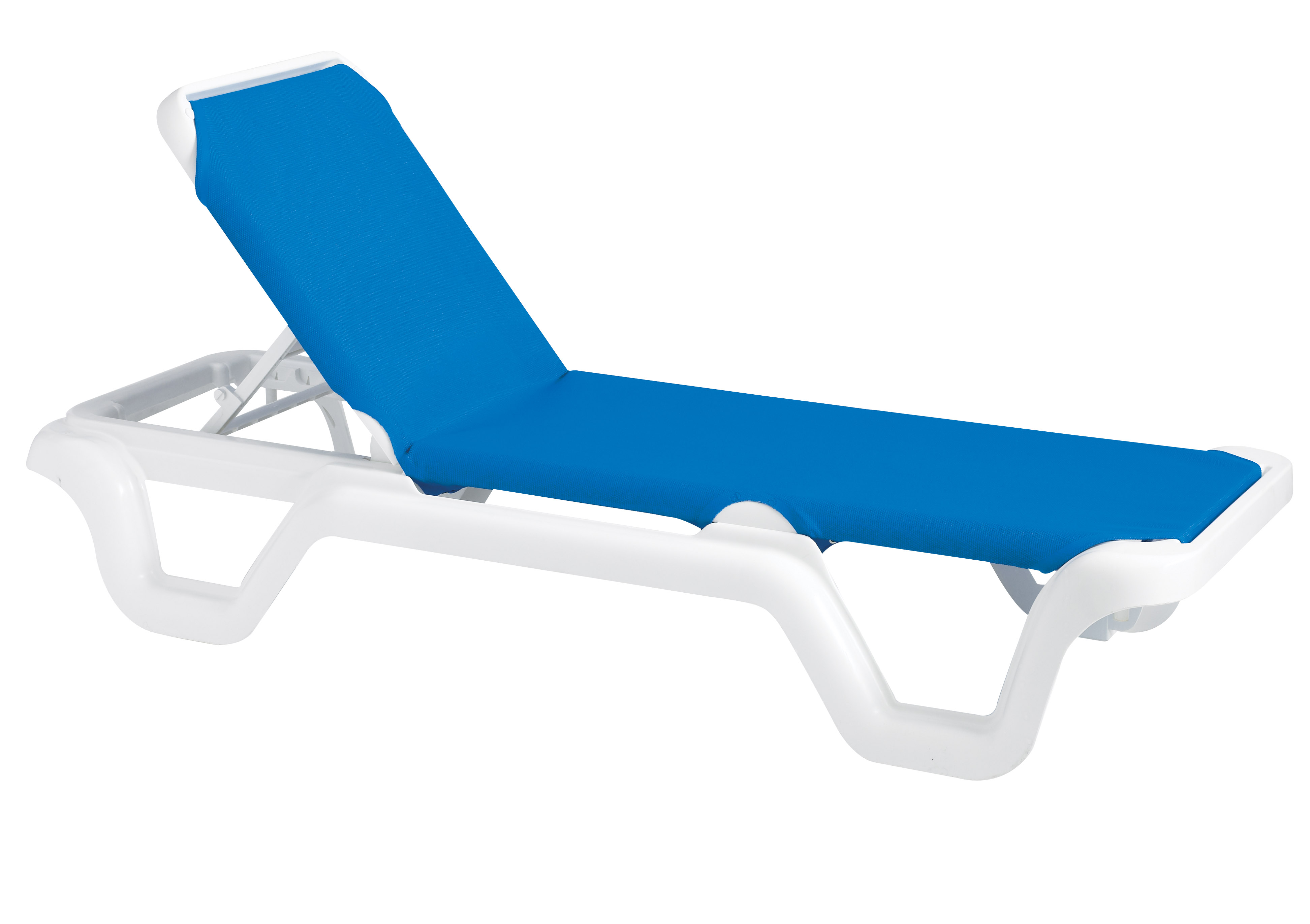 Sling Chaise Lounge Outdoor Part - 30: Grosfillex Marina Style Resin Sling Chaise Lounge Chair W/o Arms