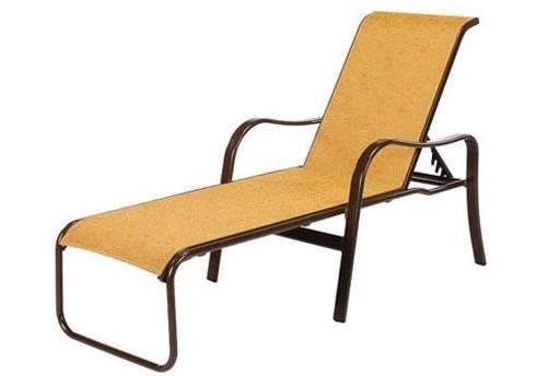 16 Quot Seat Sonata Sling Aluminum Patio Chaise Lounge Chair