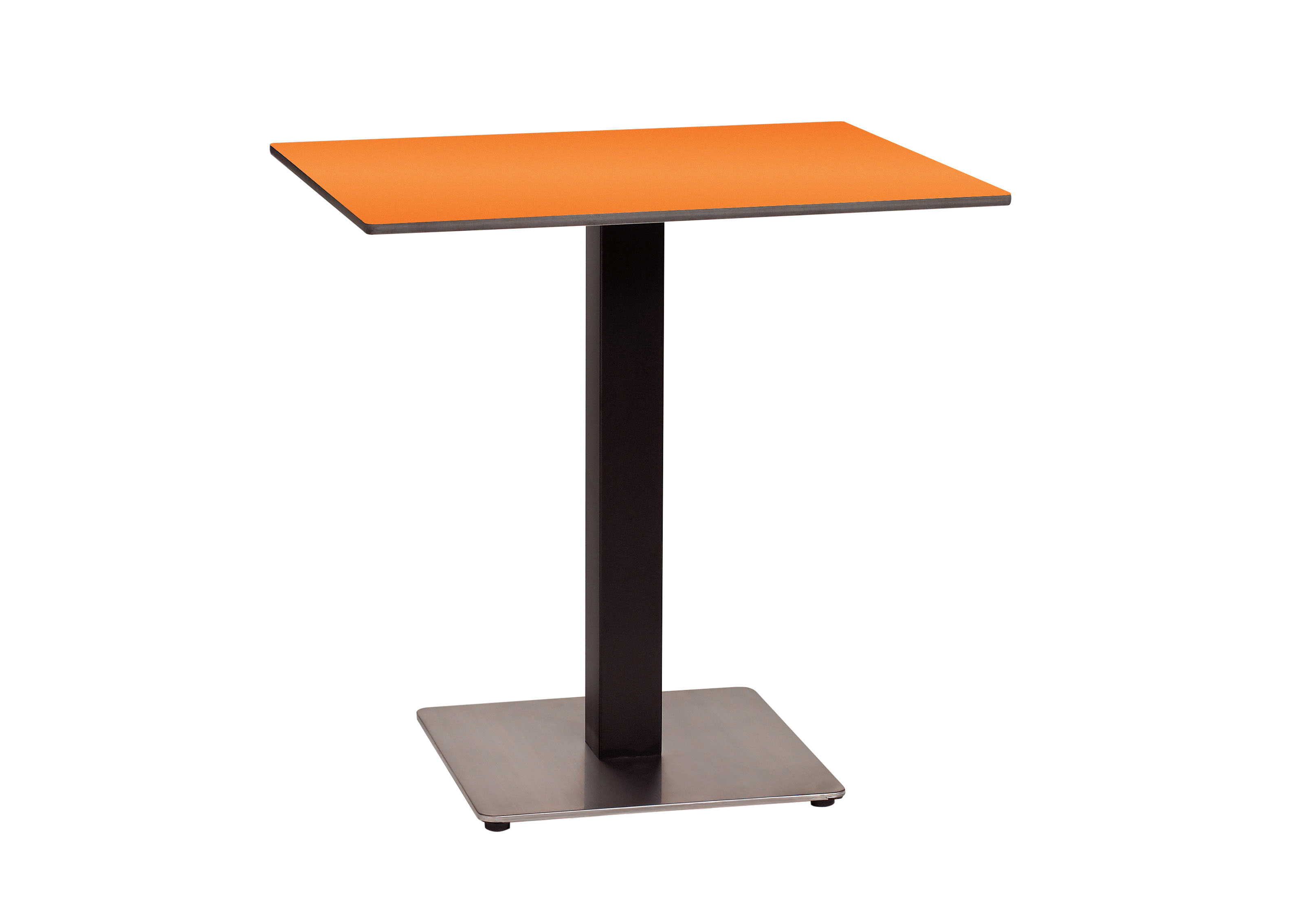 New 30 in square hpl table top with rails et t for Single leg dining table