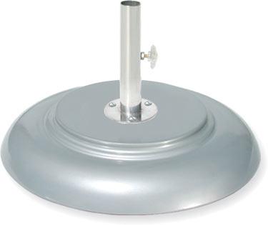 acf65 aluminum finish umbrella base available in 65 95 150 200 - Umbrella Base