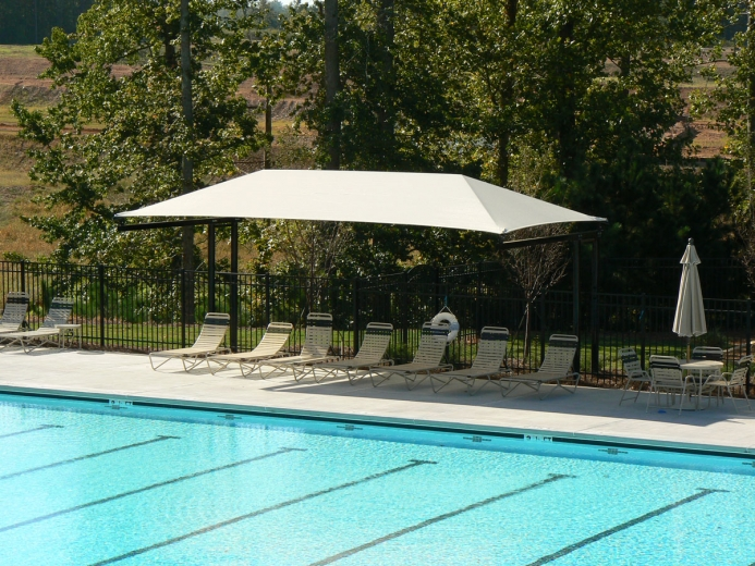 Standard Two Post Cantilever Shade Structure