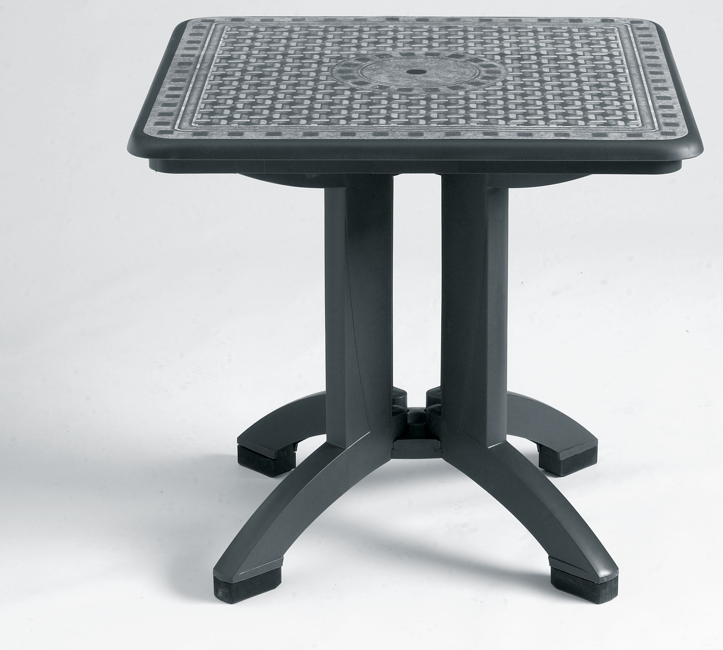 Grosfillex Toledo 32 in Sq Pedestal Folding Resin Patio Dining