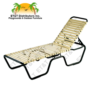 "Neptune Aluminum Strap Chaise Lounge with a 20"" Seat Height"