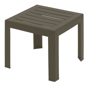 Grosfillex Bahia 16 in. x 16 in. Resin Patio Low Table