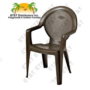 Grosfillex Trinidad Resin Patio Dining Chair W/ Arms