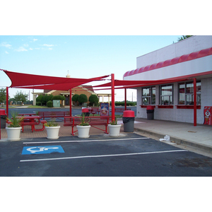 Post and Sail Patio Shade Structure