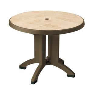 Round Resin Folding Patio Dining Table