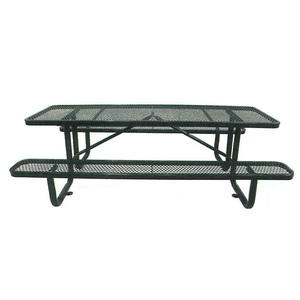 Standard Expanded Metal Style Plastisol Metal Picnic Table