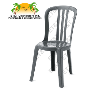Grosfillex Miami Bistro Stacking Resin Patio Dining Chair W/o Arms