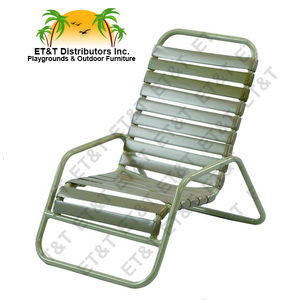 Country Club Aluminum Vinyl Strap Sand Chair-MOST POPULAR