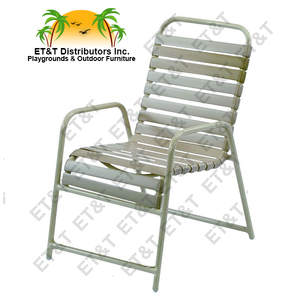 Country Club Aluminum Strap Dining Chair with Extra Front Brace