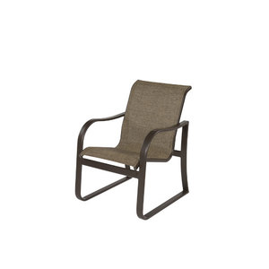 Corsica Aluminum Sling Dining Arm Chair