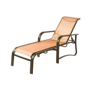 17 in. Seat Harbourage Aluminum Sling Patio Chaise Lounge Chair w/ Arms