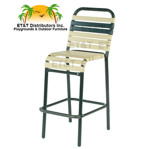 Neptune Aluminum Vinyl Strap Bar Chair w/o Arms