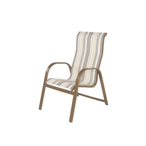Anna Maria Aluminum High Back Sling Dining Chair