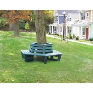 Recycled Plastic Lumber Tree Surround Bench Series ETT Distributors - Picnic table recycled plastic lumber