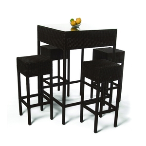 Roma Wicker Bar Dining Set