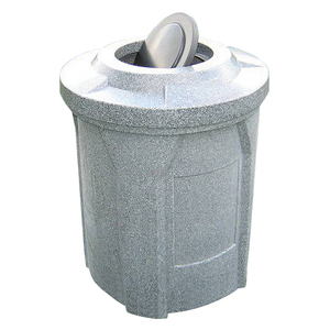 42 Gallon Round Trash Receptacle with Bug Barrier Top