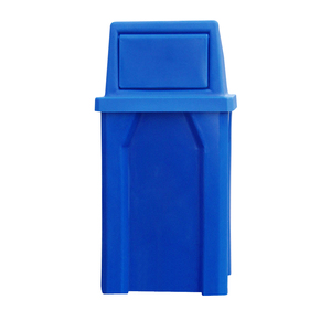 32 Gallon Square Trash Receptacle w/ Waste Top