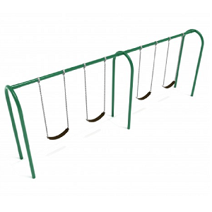 PSW006WSPB (PE) - 8' Elite Arch Post Swing- 2 Bays