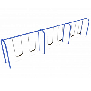 PSW007WSPB (PE) - 8' Elite Arch Post Swing-3 Bays