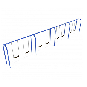 PSW008SPB (PE) - 8' Elite Arch Post Swing-4 Bays