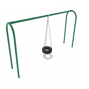 PSWTIRWSPB (PE) - 8' Elite Arch Post Tire Swing