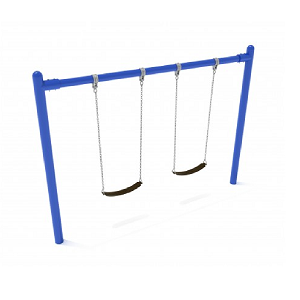 PSW001WSPB (PE) - 8' Elite Single Post Swing-1 Bay