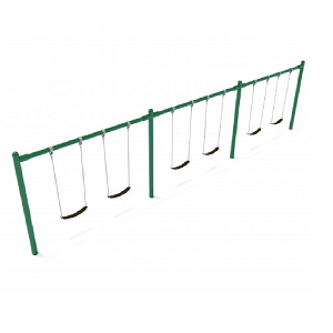 PSW003WSPB (PE) - 8' Elite Single Post Swing-3 Bays