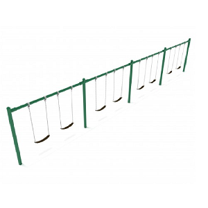 PSW004WSPB (PE) - 8' Elite Single Post Swing-4 Bays