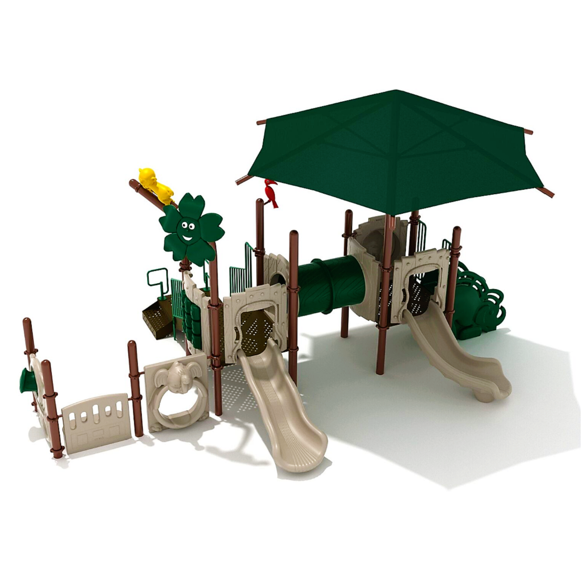 3 Jumping Jaguar Playground with Integrated Shade