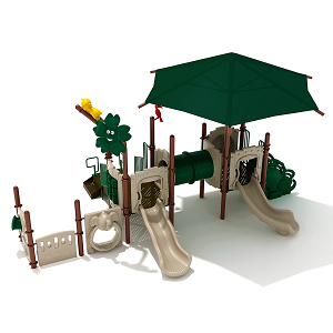 PTH001 - 3 Jumping Jaguar Playground with Integrated Shade