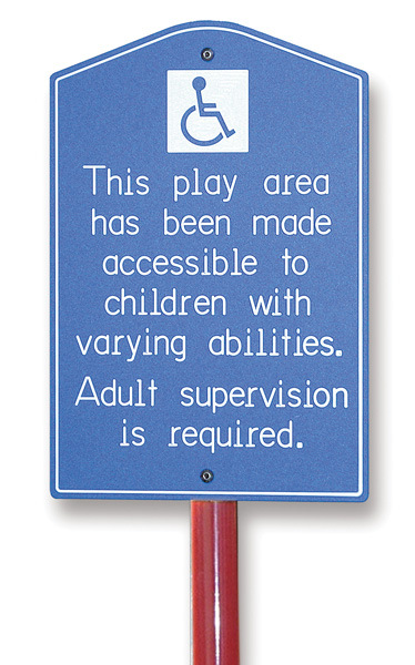 SGN-00003 - Child Forms Playground ADA Safety Sign