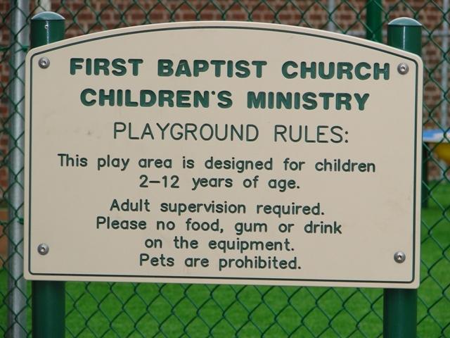 Custom Playground Rules Sign Et Amp T Distributors