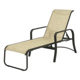 W0710 - 16 in. Seat Montego Bay Aluminum Sling Patio Chaise Lounge Chair