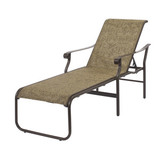 "W4910 - 16"" Seat Aluminum St. Croix Sling Chaise Lounge"