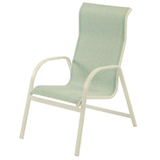 W1550HBBT - Ocean Breeze Aluminum High Back Sling Arm Chair- MOST ECONOMICAL