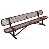 B4WBP-LC - e- Standard Expanded Metal Bench with Back