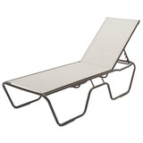 W0310SL - 14.5 in. Seat Country Club Aluminum Sling Patio Chaise Lounge- Most Economical Sling on the Market