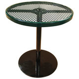 36TABX30 - 36 in. Expanded Metal Pedestal Table