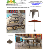 1584 - Java Chaise and Havana Dining Chair Package