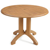 US240608 - Grosfillex 42 in. Round Atlanta Molded Melamine Table