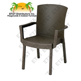 45903037 Havana chair Espresso - Grosfillex Havana Classic Resin Patio Dining Armchair