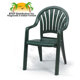 49092066 - Grosfillex Pacific Fanback Resin Patio Dining Chair w/ Arms- MOST POPULAR