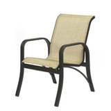 W0750BT - Montego Bay Aluminum Sling Dining Arm Chair