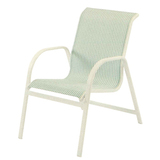 W1550BT - Windward Ocean Breeze Aluminum Sling Dining Arm Chair