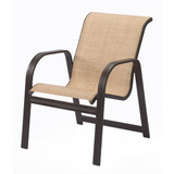 W3450BT - Cabo Aluminum Sling Dining Arm Chair
