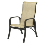 W0750HBBT - Montego Bay Aluminum Sling High Back Dining Chair