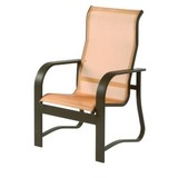 W0850HB - Harbourage Sling High Back Aluminum Dining Chair